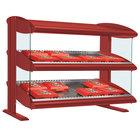 Hatco HXMH-24D Warm Red LED 24 inch Horizontal Double Shelf Merchandiser - 120V