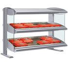 Hatco HXMH-36D Gray Granite LED 36 inch Horizontal Double Shelf Merchandiser - 120/208V