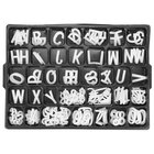 Aarco HF1.5 1 1/2 inch Helvetica Universal Single Tab Letter and Number Set - 138 Characters