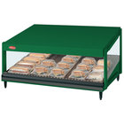 Hatco GRSDS-52 Hunter Green Glo-Ray 52 inch Slanted Single Shelf Merchandiser