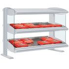 Hatco HXMH-60D White Granite LED 60 inch Horizontal Double Shelf Merchandiser - 120/208V