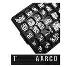 Aarco GFD1.0 1 inch Gothic Style Universal Single Tab Letter and Number Double Set - 330 Characters