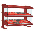 Hatco HXMS-48 Warm Red LED 48 inch Slanted Single Shelf Merchandiser - 120V