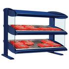 Hatco HXMS-48D Navy Blue LED 48 inch Slanted Double Shelf Merchandiser - 120/208V