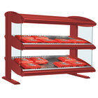 Hatco HXMH-48D Warm Red Xenon 48 inch Horizontal Double Shelf Merchandiser