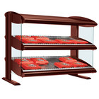 Hatco HXMS-24D Antique Copper LED 24 inch Slanted Double Shelf Merchandiser - 120V