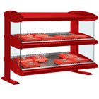 Hatco HXMH-54D Warm Red LED 54 inch Horizontal Double Shelf Merchandiser - 120/208V