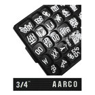Aarco GFD.75 3/4 inch Gothic Style Universal Single Tab Letter and Number Double Set - 330 Characters