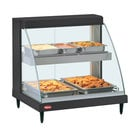 Hatco GRCDH-2PD Black 33 inch Glo-Ray Full Service Double Shelf Merchandiser with Humidity Controls - 1210W