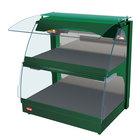Hatco GRCMW-1D Green Glo-Ray 26 inch Full Service Double Shelf Curved Merchandising Warmer - 1540W