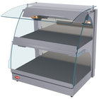 Hatco GRCMW-1D Gray Glo-Ray 26 inch Self Service Double Shelf Curved Merchandising Warmer - 1540W