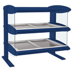 Hatco HZMH-24D Navy Blue 24 inch Horizontal Double Shelf Heated Zone Merchandiser - 120V