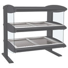 Hatco HZMH-30D Gray Granite 30 inch Horizontal Double Shelf Heated Zone Merchandiser - 120/208V