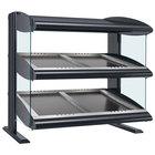 Hatco HZMS-36D Gray Granite 36 inch Slanted Double Shelf Heated Zone Merchandiser - 120/240V