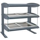 Hatco HZMH-36D Gray Granite 36 inch Horizontal Double Shelf Heated Zone Merchandiser - 120/240V
