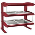 Hatco HZMH-42D Warm Red 42 inch Horizontal Double Shelf Heated Zone Merchandiser - 120/208V