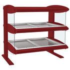 Hatco HZMH-30D Warm Red 30 inch Horizontal Double Shelf Heated Zone Merchandiser - 120/240V