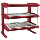 Hatco HZMH-48D Warm Red 48 inch Horizontal Double Shelf Heated Zone Merchandiser - 120/208V