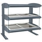 Hatco HZMH-48D Gray Granite 48 inch Horizontal Double Shelf Heated Zone Merchandiser - 120/240V