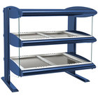 Hatco HZMH-48D Navy Blue 48 inch Horizontal Double Shelf Heated Zone Merchandiser - 120/208V
