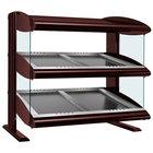 Hatco HZMS-42D Antique Copper 42 inch Slanted Double Shelf Heated Zone Merchandiser - 120/208V