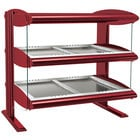 Hatco HZMH-42D Warm Red 42 inch Horizontal Double Shelf Heated Zone Merchandiser - 120/240V