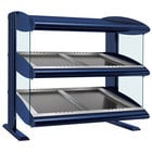 Hatco HZMS-30D Navy Blue 30 inch Slanted Double Shelf Heated Zone Merchandiser - 120/208V
