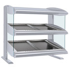 Hatco HZMS-30D White Granite 30 inch Slanted Double Shelf Heated Zone Merchandiser - 120/240V