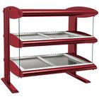 Hatco HZMH-54D Warm Red 54 inch Horizontal Double Shelf Heated Zone Merchandiser - 120/240V