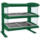 Hatco HZMH-48D Hunter Green 48 inch Horizontal Double Shelf Heated Zone Merchandiser
