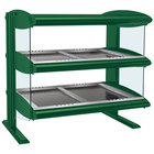 Hatco HZMH-42D Hunter Green 42 inch Horizontal Double Shelf Heated Zone Merchandiser - 120/240V