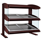 Hatco HZMS-54D Antique Copper 54 inch Slanted Double Shelf Heated Zone Merchandiser - 120/240V