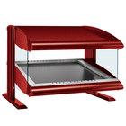 Hatco HZMS-60 Warm Red 60 inch Slanted Single Shelf Heated Zone Merchandiser - 120V