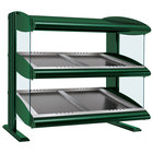 Hatco HZMS-48D Hunter Green 48 inch Slanted Double Shelf Heated Zone Merchandiser - 120/208V