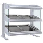 Hatco HZMS-54D White Granite 54 inch Slanted Double Shelf Heated Zone Merchandiser - 120/208V