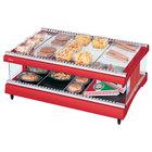 Hatco GR3SDH-33 Warm Red Glo-Ray 33 inch Horizontal Single Shelf Heated Glass Merchandising Warmer - 120V