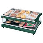 Hatco GR3SDH-33 Hunter Green Glo-Ray 33 inch Horizontal Single Shelf Heated Glass Merchandising Warmer - 120V