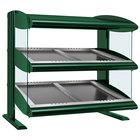 Hatco HZMS-48D Hunter Green 48 inch Slanted Double Shelf Heated Zone Merchandiser - 120/240V