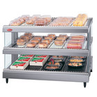 Hatco GR3SDS-33D Gray Granite Glo-Ray 33 inch Slanted Double Shelf Heated Glass Merchandising Warmer - 120/240V