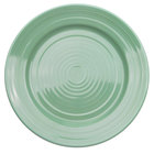 CAC TG-21-G Tango 12 inch Green Round Plate - 12/Case