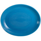 CAC TG-13C-PCK Tango 11 1/2 inch x 9 1/4 inch Peacock Coupe Oval Platter - 12/Case