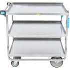 Lakeside 744 Heavy Duty Stainless Steel 3 Shelf Utility Cart - 22 3/8