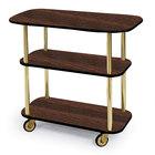 Geneva 36100 Rectangular 3 Shelf Laminate Tableside Service Cart with Mahogany Finish - 16