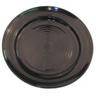 CAC TG-8-BLK Tango 9 inch Black Round Plate - 24/Case