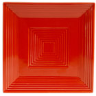 CAC TG-SQ16-R Tango 10 inch Red Square Plate - 12/Case