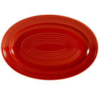 CAC TG-12-R Tango 10 5/8 inch x 7 3/4 inch Red Oval Platter - 24/Case