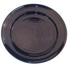 CAC TG-8-CBU Tango 9 inch Cobalt Blue Round Plate - 24/Case