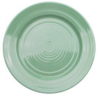 CAC TG-9-G Tango 9 7/8 inch Green Round Plate - 24/Case