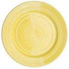 CAC TG-16-SFL Tango 10 1/2 inch Sunflower Round Plate - 12/Case