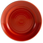 CAC TG-9-R Tango 9 7/8 inch Red Round Plate - 24/Case